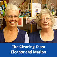 Eleanor and Marion Cleaning Team
