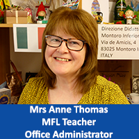 Mrs Anne Thomas MFL Teacher and Office Administrator